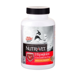 Nutri-Vet Hip & Joint Regular Strength Chewables - 500mg GS, 100mg CS, 10 mg MSM