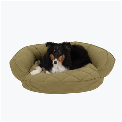 Microfiber Quilted Bolster Bed w/Moisture Barrier Protection