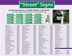 "Dog Street Signs - 6"" x 18"""