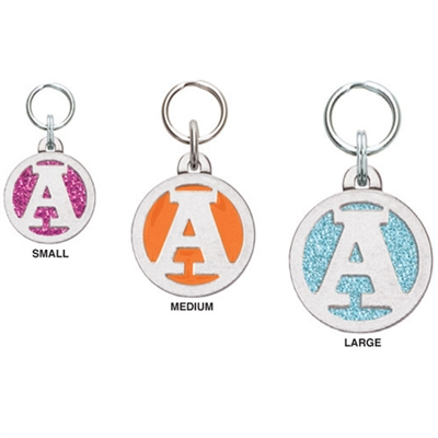 Small Initial Pet ID Tags