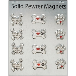 Solid Pewter Magnets Collection