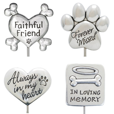 Solid Pewter Memorial Stake Collection
