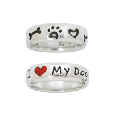 Doggie Lover Pewter Rings Collection
