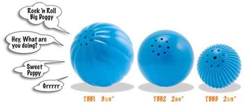 Dog Babble Balls (Sm  Med & Lg Sizes) Pet Qwerks