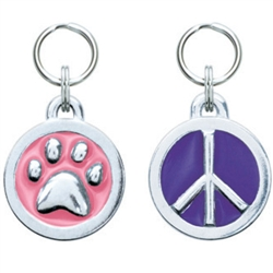 Small Circle Symbol Pet ID Tags