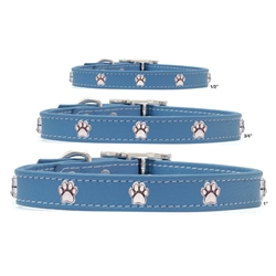 Premium Blue Leather Collars