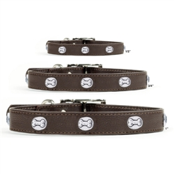 Premium Brown Leather Collars