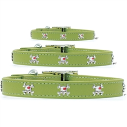 Premium Green Leather Collars