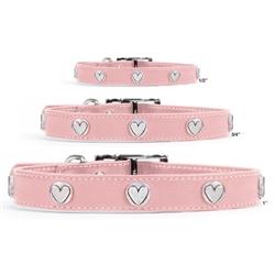 Premium Pink Leather Collars
