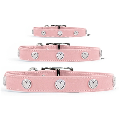 Premium Pink Leather Collars