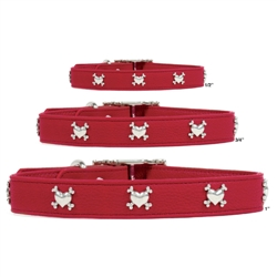 Premium Red Leather Collars