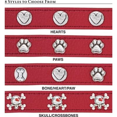 Premium Red Leather Collars
