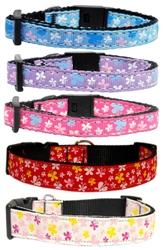 Butterfly Nylon Ribbon Collar & Leash