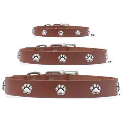 Vegetable Tanned Brown Leather Collars
