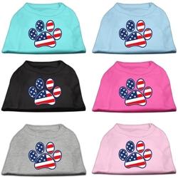 Patriotic Paw Screen Print Shirts