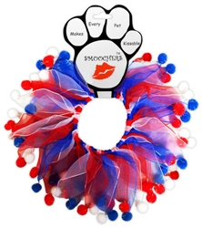 Patriotic Red, White and Blue Fuzzy Smoochers