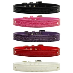 18mm Two Tier Faux Croc Collar