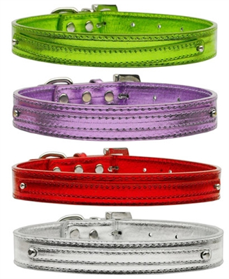 """Metallic Two Tier Collars for 3/4"""" (18mm) Charms"""