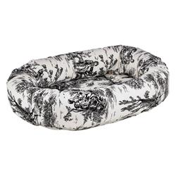 Donut Bed Onyx Toile Microvelvet