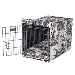 Luxury Crate Cover Onyx Toile Microvelvet