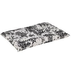 Tufted Cushion Onyx Toile Microvelvet