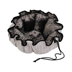 Buttercup Bed Silver Treats (Grey Teddy Faux Fur)