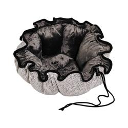 Buttercup Bed Silver Treats (Grey Teddy Faux Fur)
