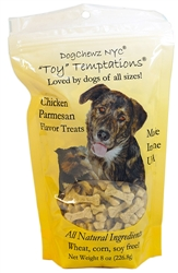 Organic Chicken Parmesan Toy Temptations Dog Treats by DogChewz NYC
