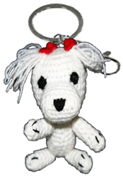 Dog Star Collectable Keychains - Maltese - 2 Pak