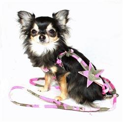 Pink Camo Star Designer Charm Stepin Harness