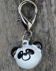 Jingle Bell Panda Dog Collar Charm