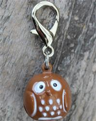 Jingle Bell Owl Collar Charm