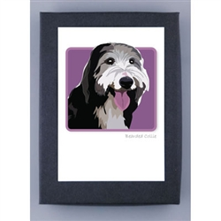 Bearded Collie - Grrreen Boxed Note Cards