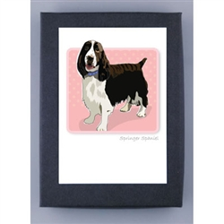 Springer Spaniel - Grrreen Boxed Note Cards