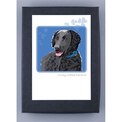 Retriever, Curley Coated - Grrreen Boxed Note Cards