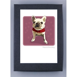 French Bulldog, White - Grrreen Boxed Note Cards
