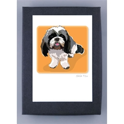 Shih Tzu, Black spots - Grrreen Boxed Note Cards