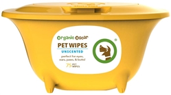 "Organic Oscar Aloe Vera Pet Wipes - 75 ct ""Tubs"""