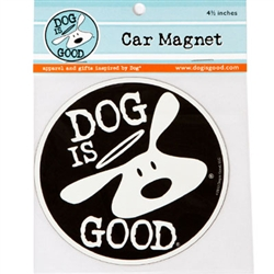 Dog is Good® - Bolo Logo Round Car Magnet