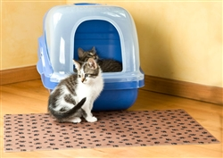 Tan Litter Box Mat w/PP