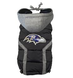 Baltimore Ravens Dog Puffer Vest