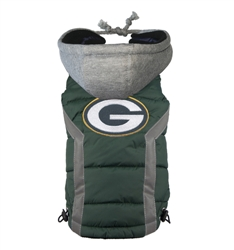 Green Bay Packers Dog Puffer Vest