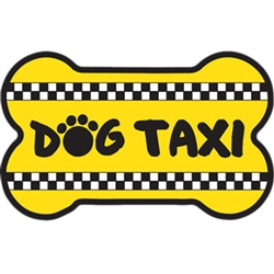 Bone Shaped Magnet - Dog Taxi