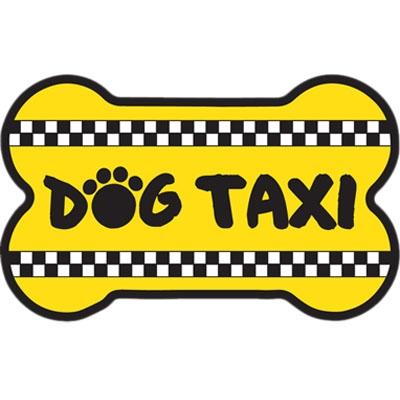 Bone Shaped Magnet - Dog Taxi