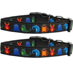 Black Monsters Nylon Collars and Leashes