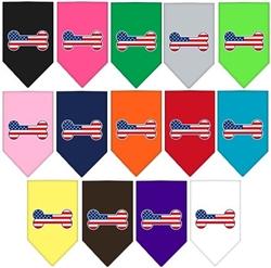Patriotic Bone Flag American Screen Print Bandana
