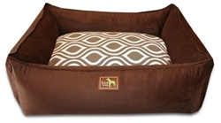Chocolate Lounge Bed w/Flicker Brown