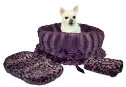 Purple Cheetah & Purple Reversible Snuggle Bug