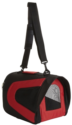 Red And Black Airline Approved  'Sporty' Pet Dog Carrier