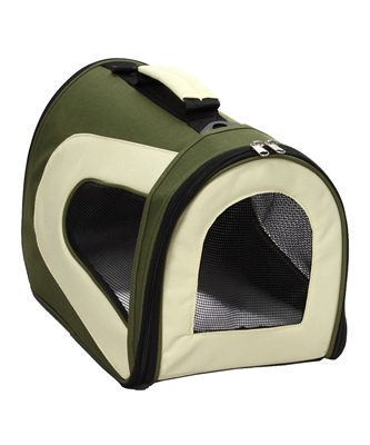 Green And Khaki  Airline Approved  'Sporty' Pet Dog Carrier